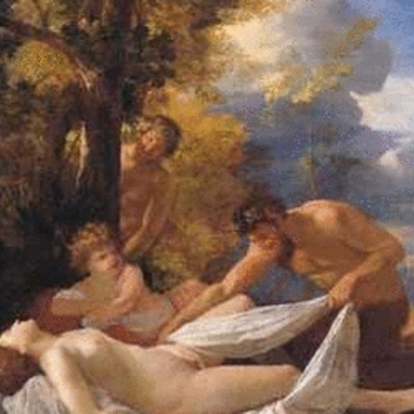 Poussin   nymphes satyres 300