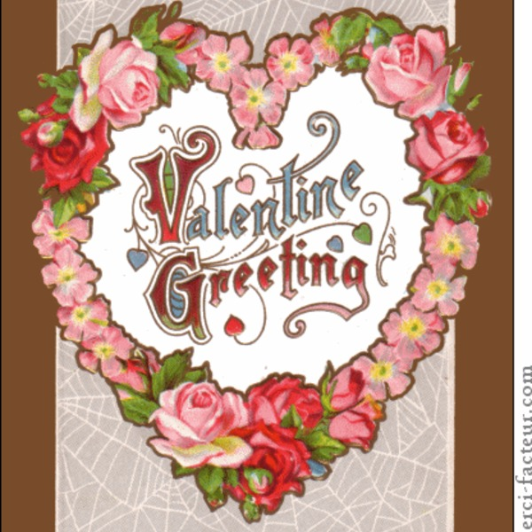 3018 valentine greeting ancienne maxi