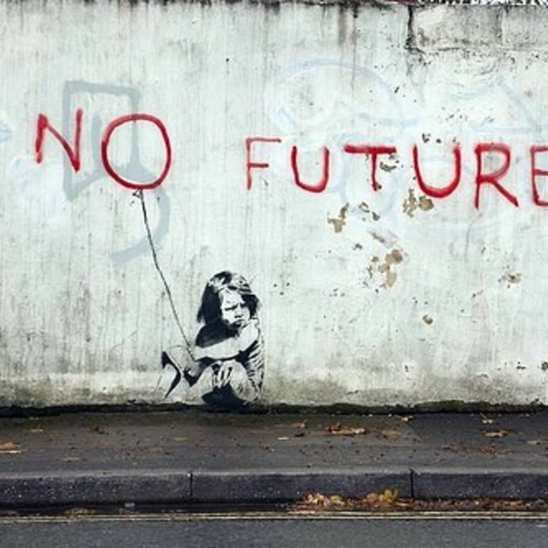 Banksy no future 1