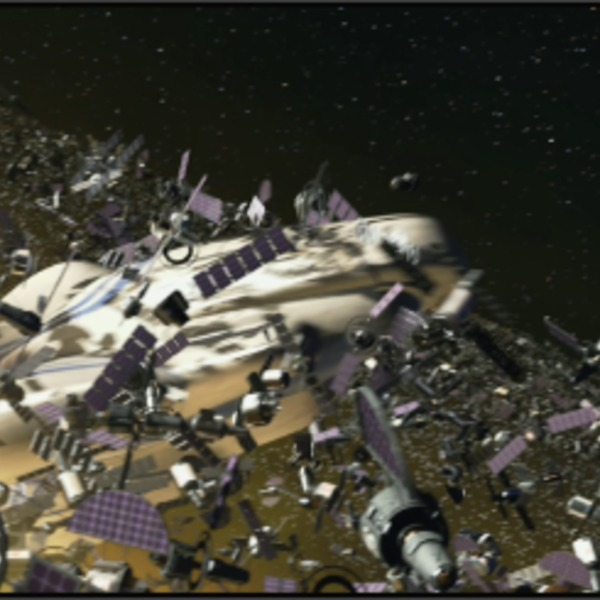 Wall e space junk