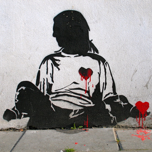 Happy valentines day street art love 4