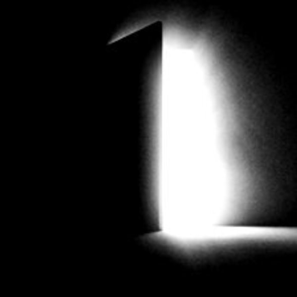 Stock footage a black door opening and letting in white light