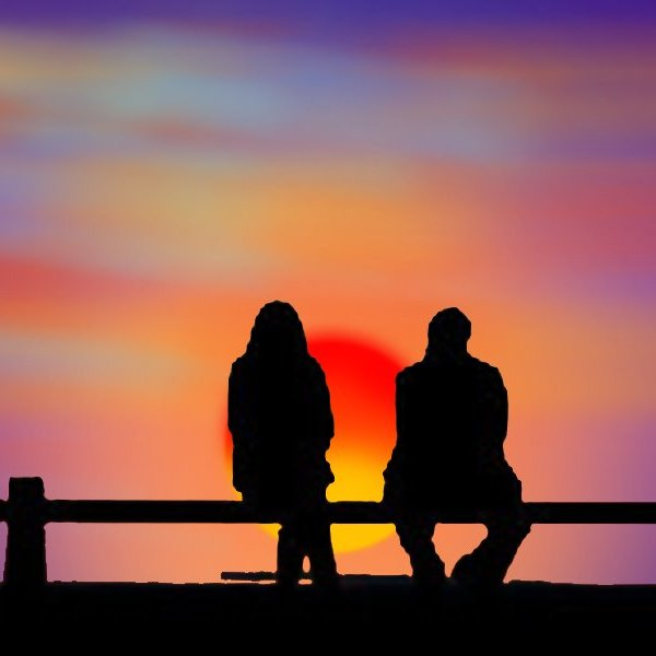 Sunset couple by shilpa84