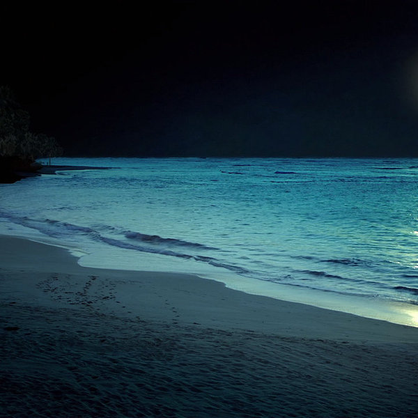 Beach at night by myraalex d6iot9k