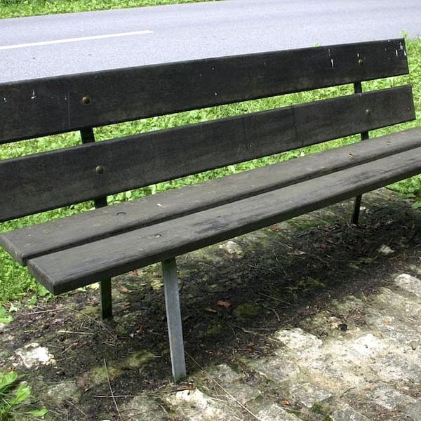 Bench in park old