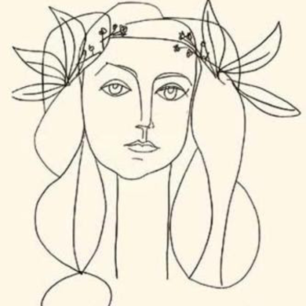 Pablo picasso head of a woman  silkscreen print  7569