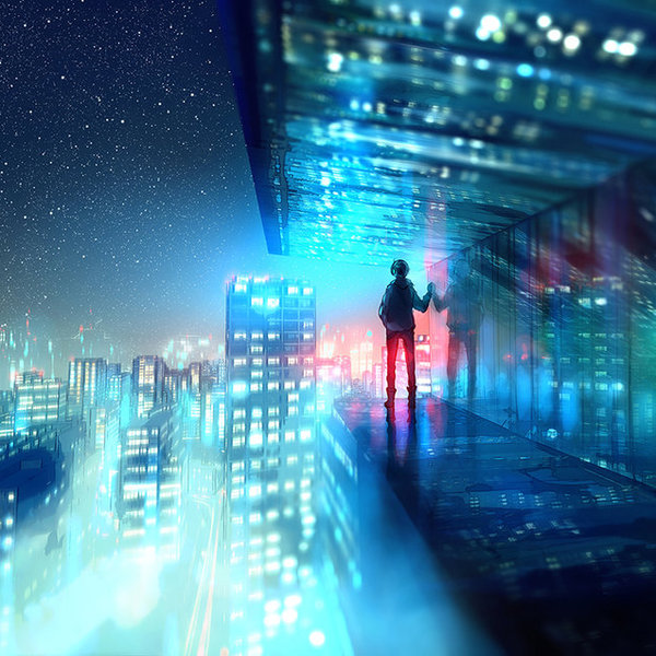 Above the lights by yuumei d8rr0oe