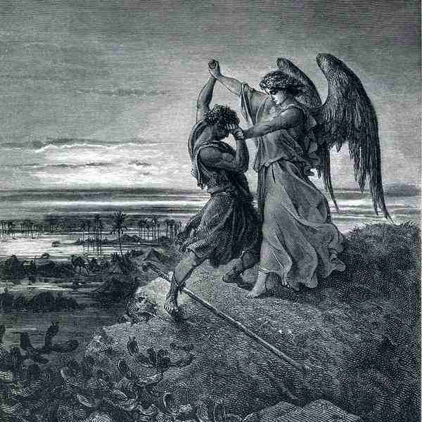 Jacob wrestling with the angel 1866