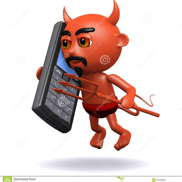 Le diable d cause %c3%a0 un t%c3%a9l%c3%a9phone portable 43100926