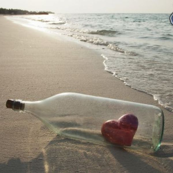 Heart  bottle  sea  beach 165167