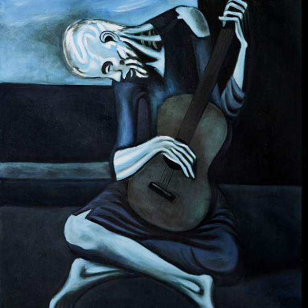 Pablo picasso painting the old guitarist2