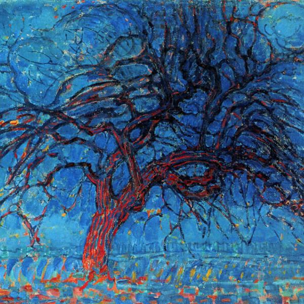 Piet mondrian (evening) the red tree 1910