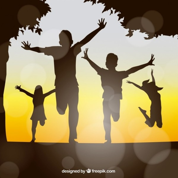 Happy kids silhouttes 23 2147510360