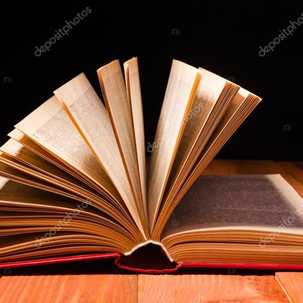 Depositphotos 105244088 stock photo book opened in library on