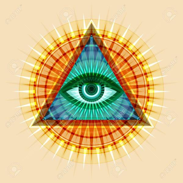 97835840 all seeing eye of god the eye of providence eye of omniscience luminous delta ancient mystical sacra