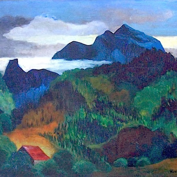 Moise kisling krakow  poland 1891  1953 sanary  france (polish  french)   paysage du midi  1918 (2)