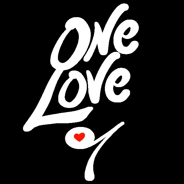 One love logo white