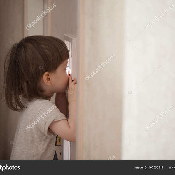 Depositphotos 166560914 stock photo the little boy looks in