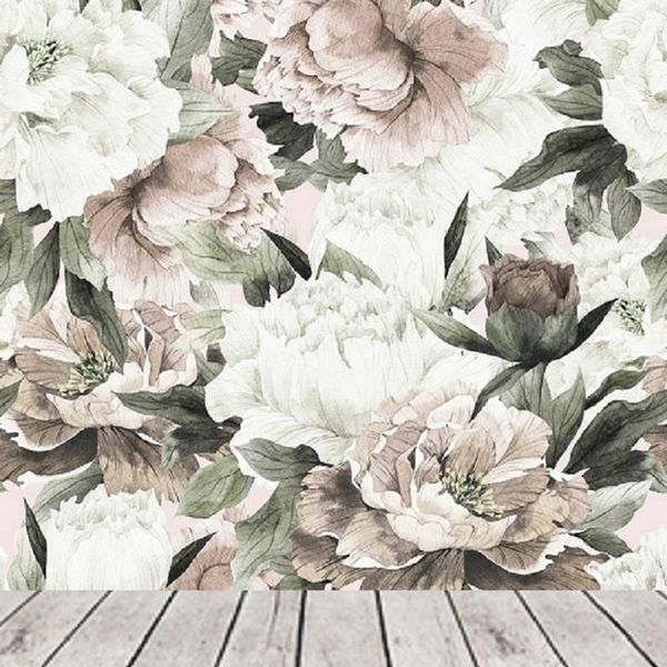 Peel and stick wallpaper floral large floral wallpaper  peonies wallpaper mural  floral wall mural removable peony wall paper removable  118