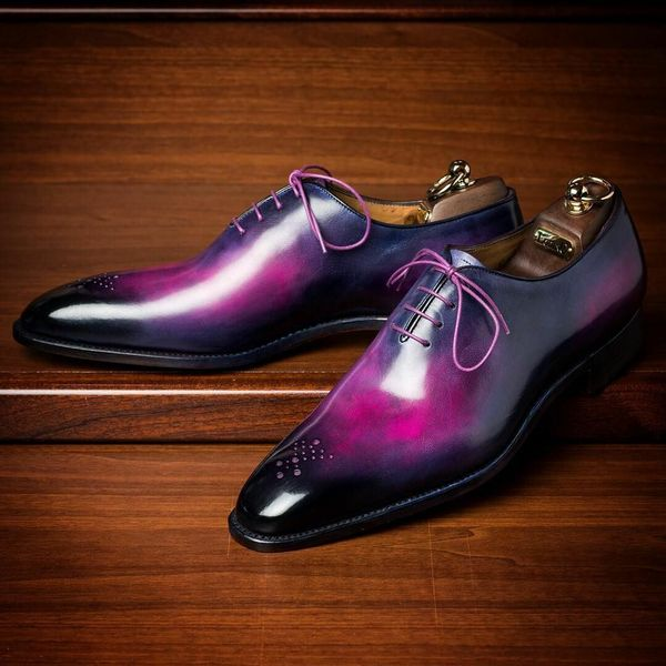 Leather modern classic shoes 2