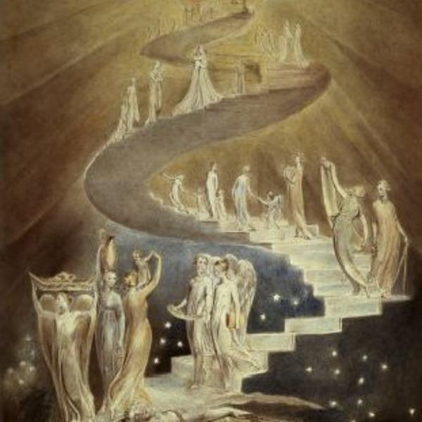 L'art et la mort dans l'imaginaire collectif (par les plus grands artistes de tout les temps) William-blake-l-echelle-de-jacob_orig
